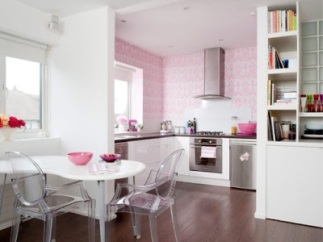 Bright-Pink-Feminine-Kitchen twine interiors