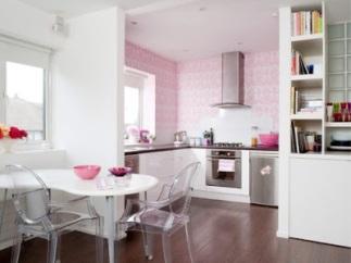 Bright-Pink-Feminine-Kitchen twine interiors