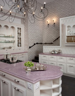 fa569__pink-kitchen-marble-countertops-brick-wall-better-decorating-bible-blog-silverware-Traditional-Kitchen