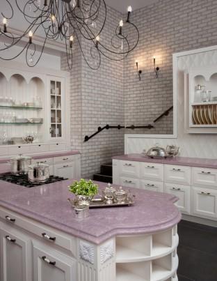 fa569__pink-kitchen-marble-countertops-brick-wall-better-decorating-bible-blog-silverware-Traditional-Kitchen