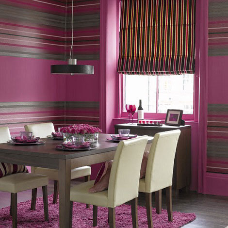 Modern-Pink-diningroom-decor pics decor
